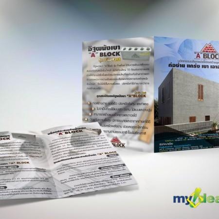 ผลงาน ออกแบบ แผนพับ โบรชัวร์ Portfolio Brochure